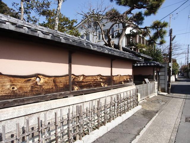 吉屋信子記念館土塀