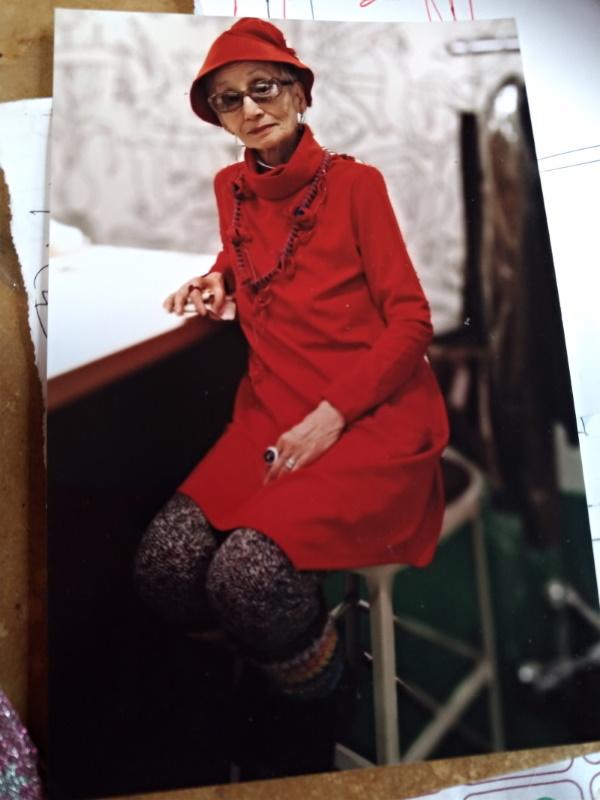 最近の写真(自分作の赤い帽子)