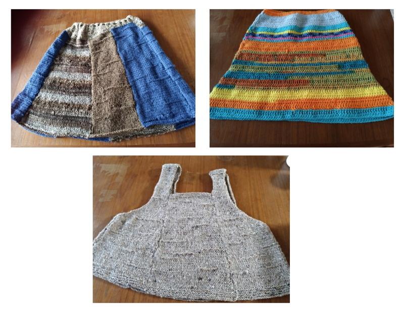 自作のスカート